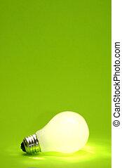 Green Lightbulb Background