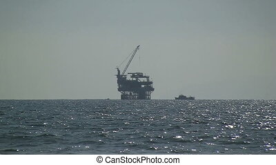 Oil Rig Off California Coast - Oil Rig off California coast
