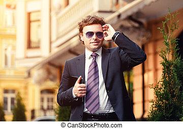 Handsome mature businessman outdoor - Handsome mature...