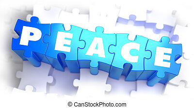 Peace - Text on Blue Puzzles. - Peace - Text on Blue Puzzles...