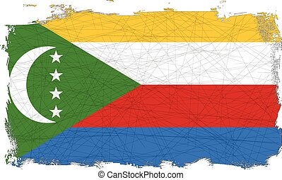 Flag of Comoros - Flag of the Arab League country of Comoros