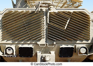 Radiator grill of M48 Patton tank