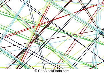 Threads Net - Abstract background with crossing colored...