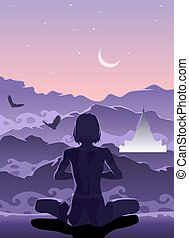 Meditation in the Mountains