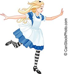 Running Alice  - Illustration of running Alice