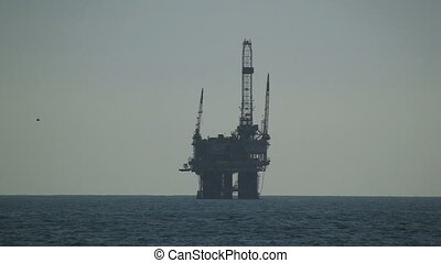 Oil Rig Off California Coast - Oil Rig off California coast.