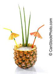 tropical, piña, Bebida, 1