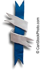 Ribbon interwoven - Ribbon cross, badge or batch for 4 July...