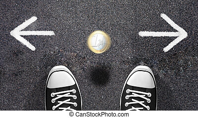 Making a decision or coin flipping - Do I have to go left or...