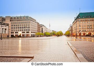 Pariser Platz, Unter den Linden street in Berlin - Pariser...