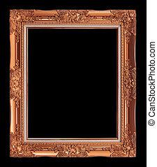 anticaglia, ritaglio, cornice, isolato, fondo, nero, arancia, percorso
