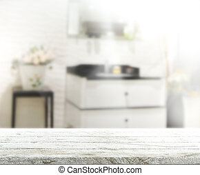 Table Top And Blur Interior Background - Table Top And Blur...