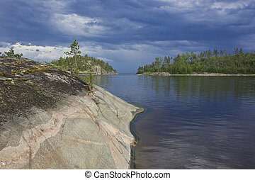 Lake Ladoga, Karelia, Russia - Northern Ladoga skerries at...