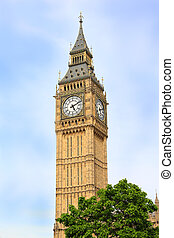 London Big Ben Clocktower - The clocktower of Big Ben in...