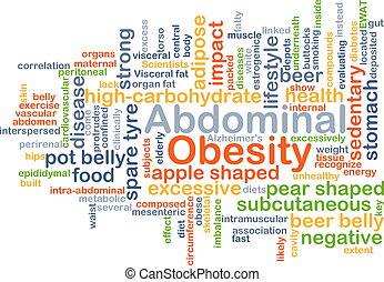 Abdominal obesity background concept - Background concept...