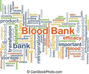 sangre, Banco, Plano de fondo, concepto,