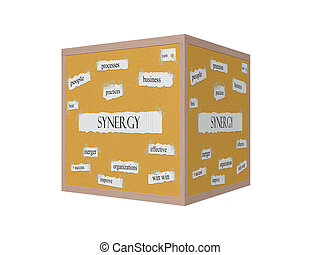Synergy 3D Corkboard Word Concept with great terms such as...