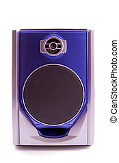 Blue speaker - Speaker in blue and silver isolated over...