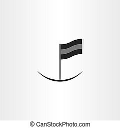 abstract black flag icon design