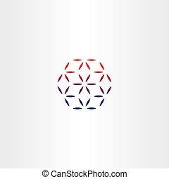 abstract business hexagon logo design