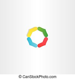 abstract circle colorful logo branding icon