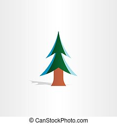 christmas tree with snow icon