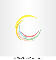 colorfull summer wave logo design