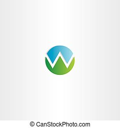 letter w mountain symbol logo