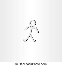 man walking icon vector symbol
