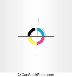 offset printing registration mark illustration design