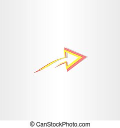 red yellow abstract arrow symbol design