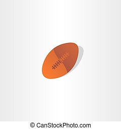 rugby ball american football icon design