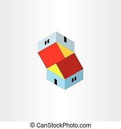 unreal houses illusion icon design