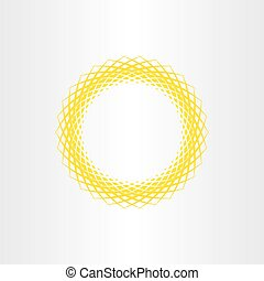 yellow sun vector abstract circle background