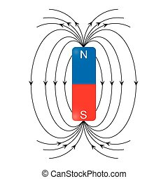 magnetic field vector - image of magnetic field isolated on...