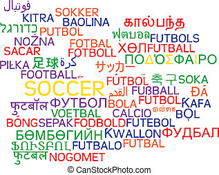 futbol, multilanguage, wordcloud, Plano de fondo, concepto,