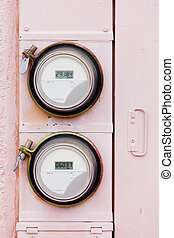 Smart grid residential digital power supply watthour meters...