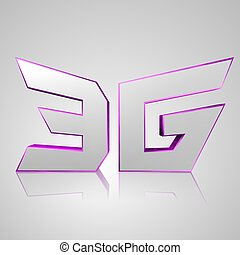 3D Text Mobile network 3G - 3d text for business and website...
