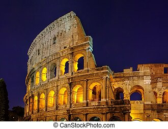 Rom Colosseum by night