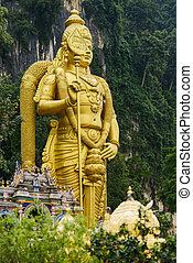 Batu caves in Kuala Lumpur - Batu caves, Hindu temple in...