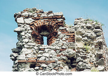 Loophole, Plavecky castle, Slovak republic Detail photo