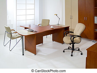 Office Furniture - Set of office furniture on an isolated...
