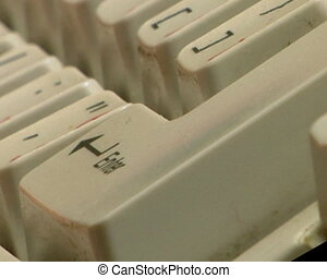press enter key - close-up male index finger press the enter...