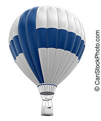 Hot Air Balloon with Finnish Flag Image with clipping path