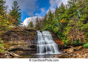 Appalachian Mountain Waterfall