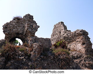 Ruins of the ancient church - Side, Turkey