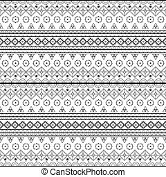ethnic patterns seamless tribal monochrome- vector...