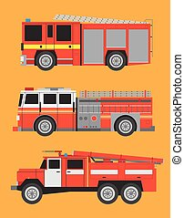 Fire engine - Vector international fire engines on...