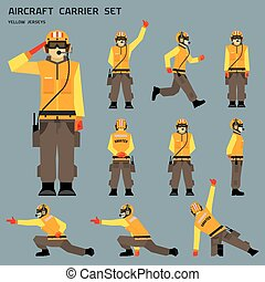 Aircraft carrier shooter signals