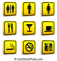 Airport Style Icons Set 03 - Airport style icons set 03 on a...